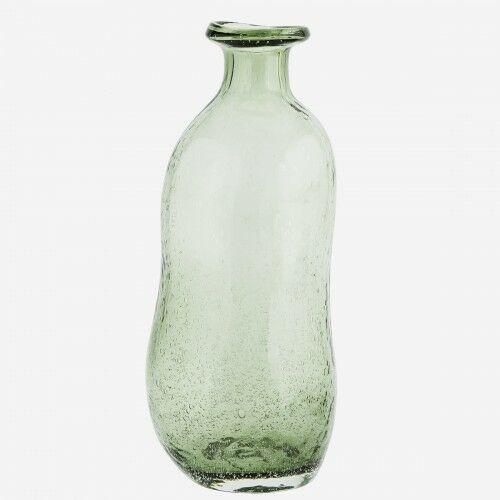 Szklany wazon o organicznym kształcie- zielony- Madam Stoltz