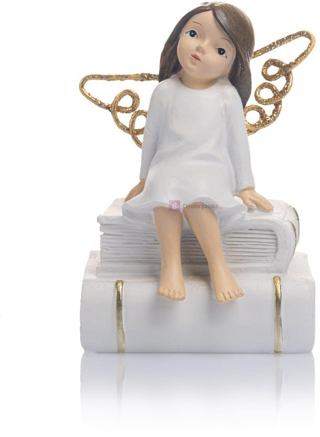 Figurka - aniołek - książka - 12 cm