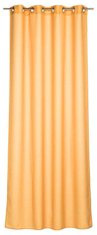 Zasłona Foggia żółta 140 x 260 cm na przelotkach Inspire