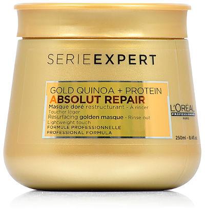 Loreal Absolut Repair Gold Maska regenerująca, dodająca włosom lekkości 250 ml