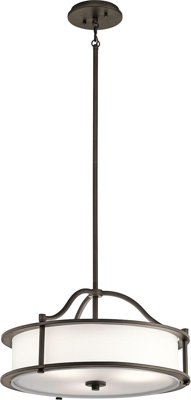 Lampa wisząca Emory KL/EMORY/P/S OZ Kichler brązowa oprawa w klasycznym stylu