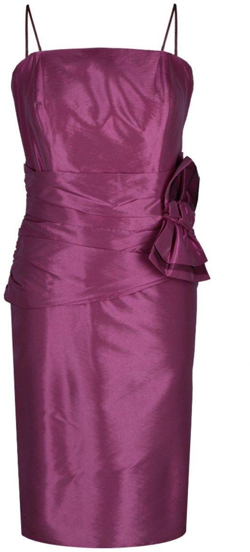 Sukienka FSU202 AMARANTOWY ŚREDNI