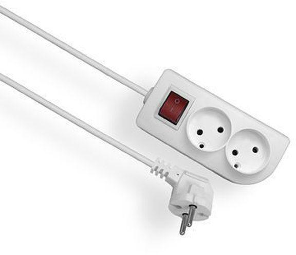 Przedłużacz z wyłącznikiem CLASSIC 2-gniazda b/u 1,5m /OMY 2x1/ PSN-21,5W