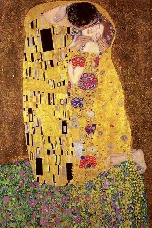 Gustav klimt - the kiss pocałunek - plakat