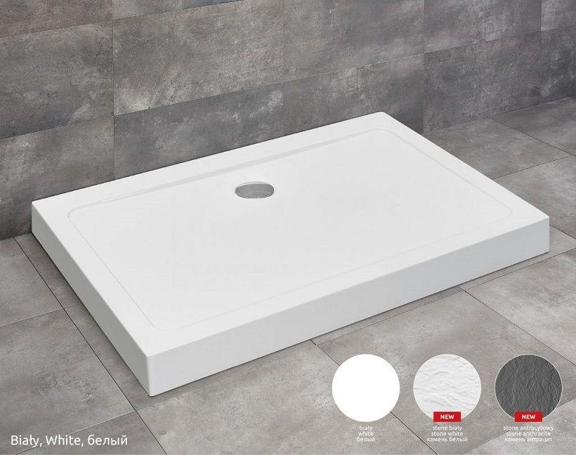 Radaway Doros D Compact Stone brodzik 90x80 biały SDRD9080-05-04S