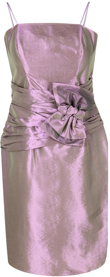 Sukienka FSU202 FIOLETOWO-ZIELONY