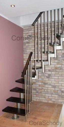 Schody CORA model Mix 04 L-90 13 elementów