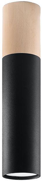 Czarny nowoczesny plafon LED walec - EX540-Pables