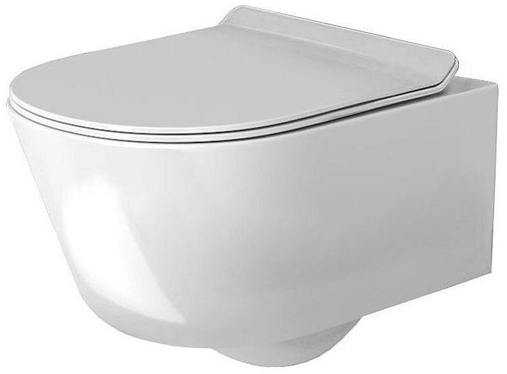 Miska WC podwieszana z deską Tores Rimless Rea (REA-C1001)