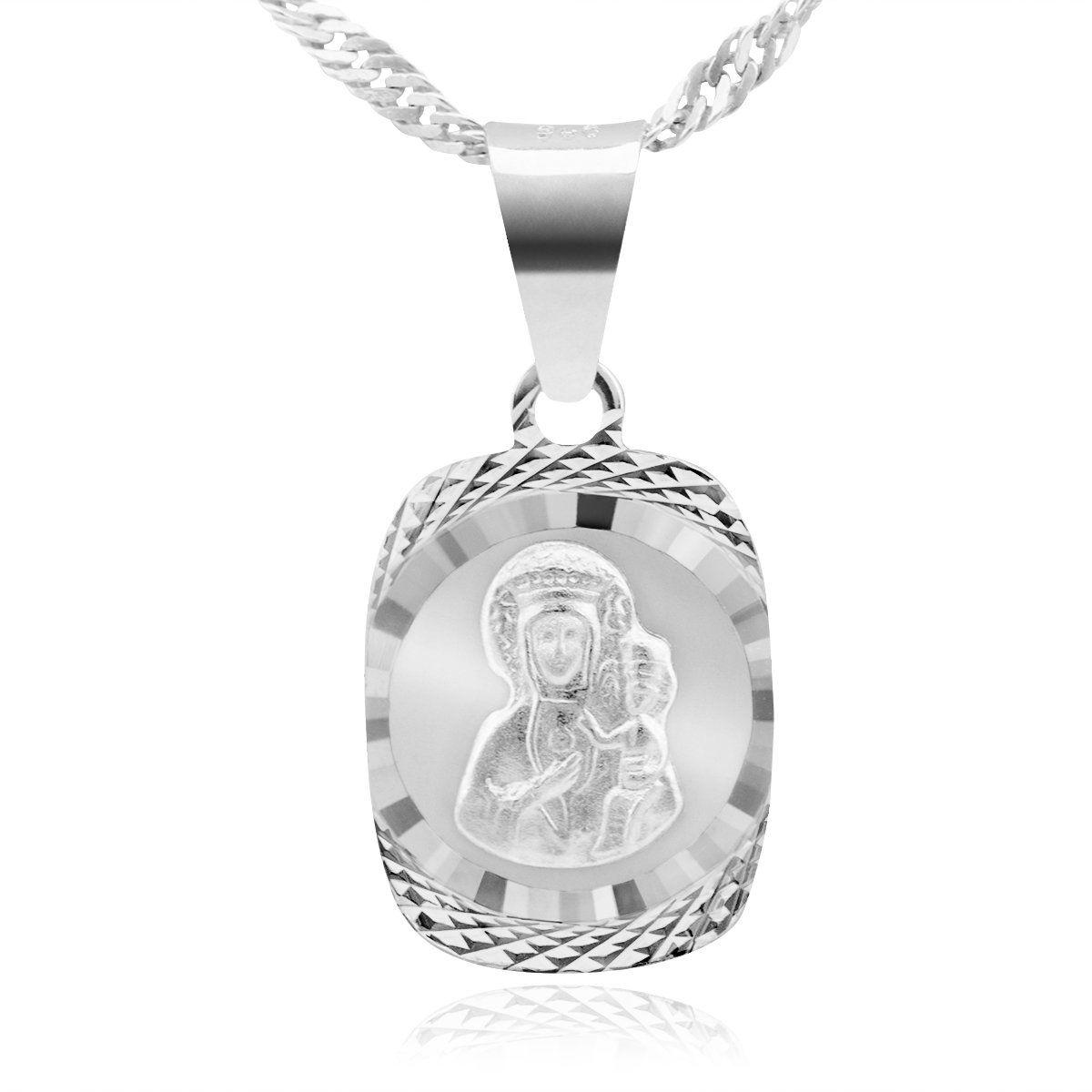 Srebrny medalik Matka Boska Częstochowska pr. 925