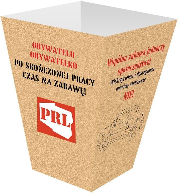 Pudełka na popcorn PRL - 6 szt.