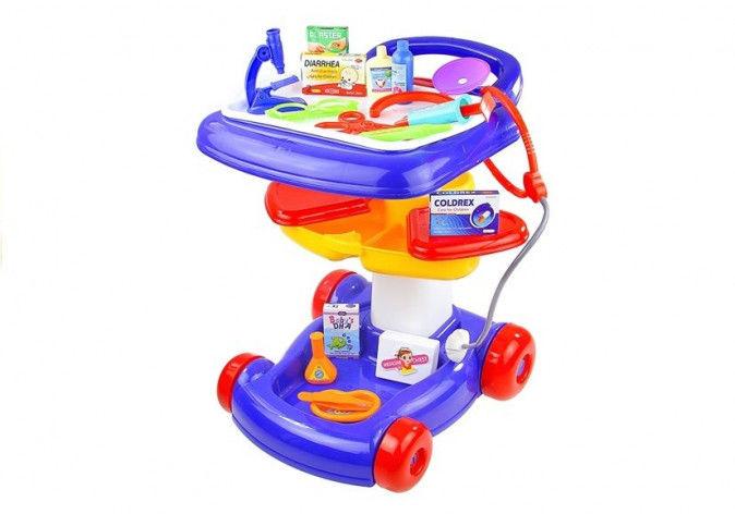 Zestaw Małego Lekarza na Wózku 27 elementów