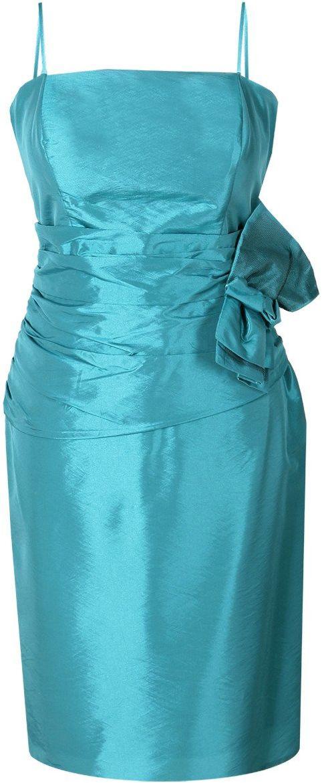 Sukienka FSU202 TURKUSOWY