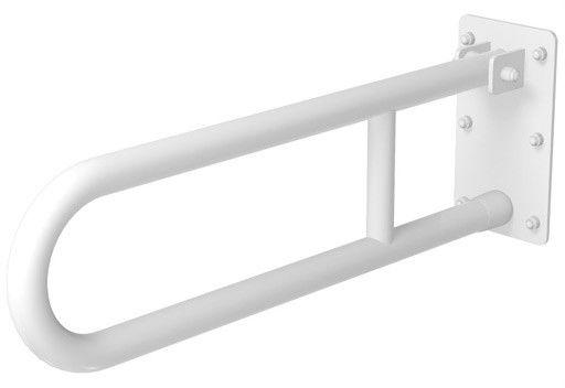 Poręcz dla niepełnosprawnych uchylna fi 32 70 cm Faneco stal biała