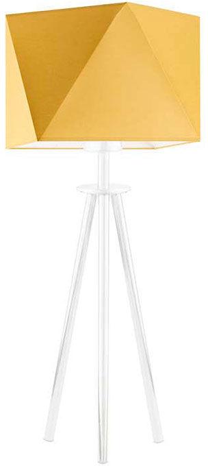 Lampka stołowa trójnóg na białym stelażu - EX926-Soveti - 18 kolorów