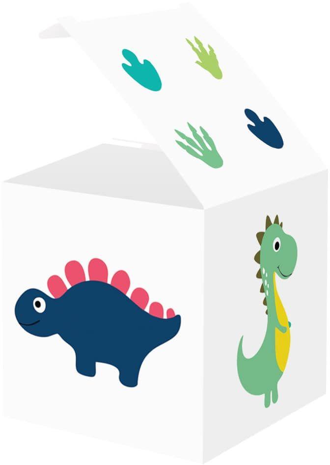 Pudełeczka dla gości Wesołe Dinozaury - 6 szt.