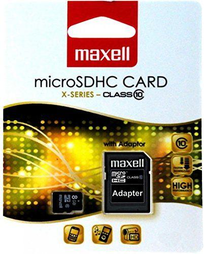 Maxell 745202 karta pamięci 8 GB MicroSDHC klasa 10 - karty pamięci (8 GB, MicroSDHC, klasa 10, czarna)
