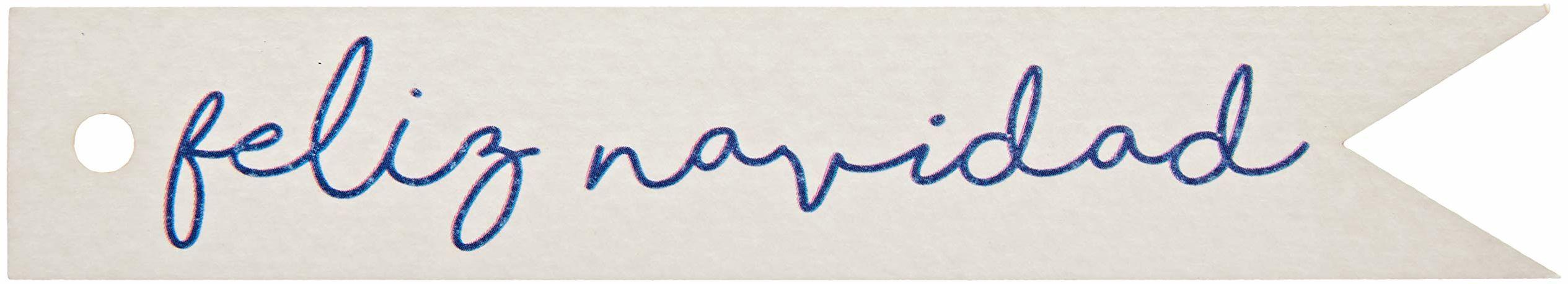 Mopec NX481.25.1 kartka z życzeniami na Boże Narodzenie, niebieska, 11 x 2 cm, 20 sztuk