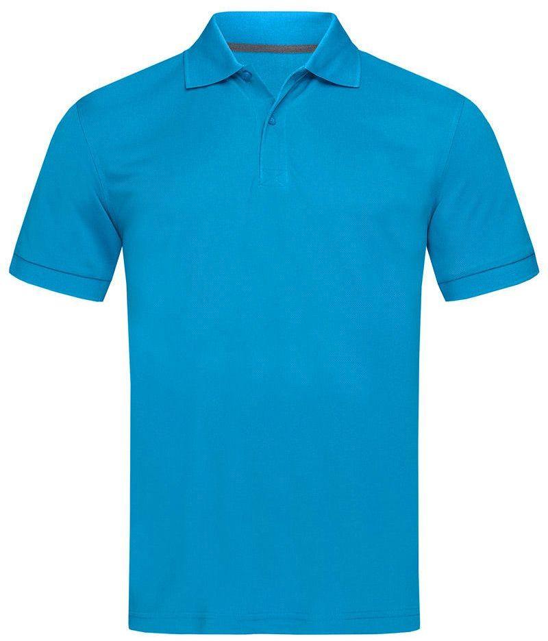 Koszulka Polo, Niebieska, Sportowa, ACTIVE-DRY Poliester, dzianina pique TSJNPLPOLOST8050hawaiiblue