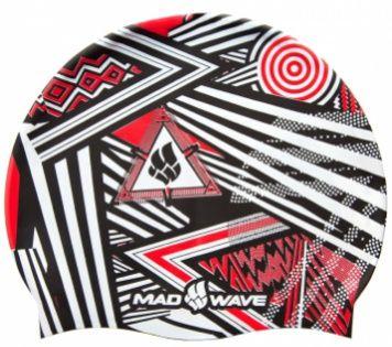 Czepek pływacki mad wave stripes silicone czerwony