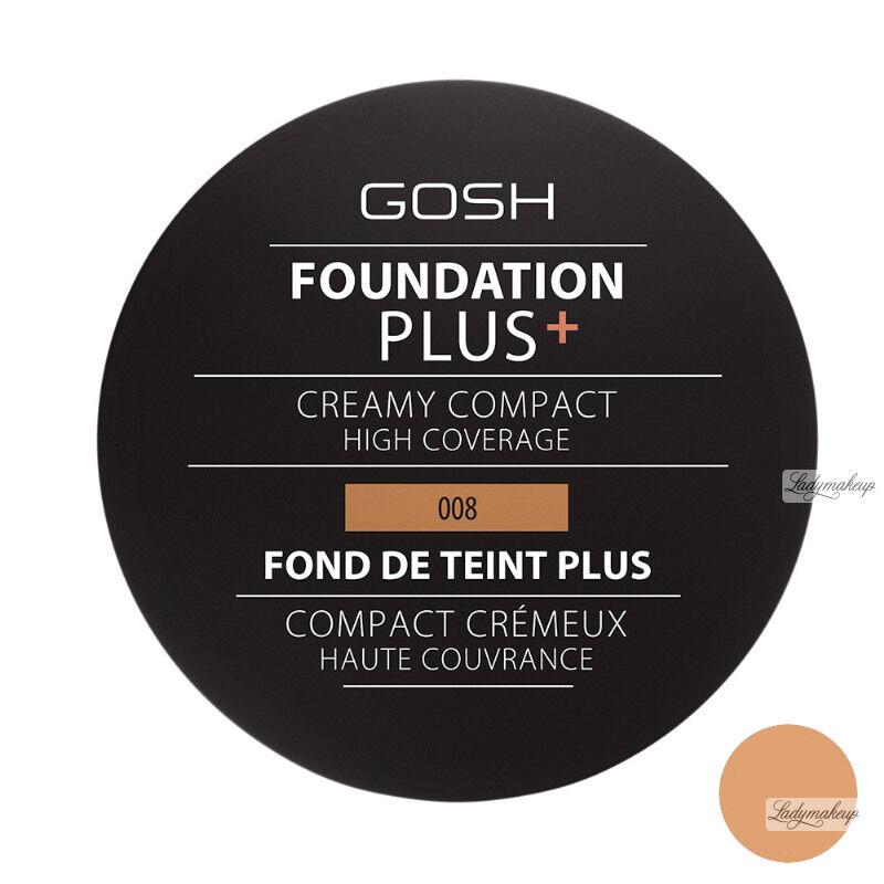 Gosh - FOUNDATION PLUS+ - CREAMY COMPACT - Kremowy podkład w kompakcie - 008 - GOLDEN