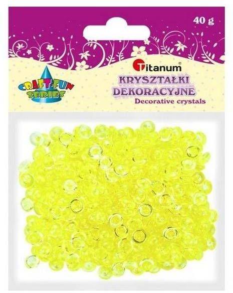 Koraliki plastikowe połówka kuli cytrynowe 40g - Titanum