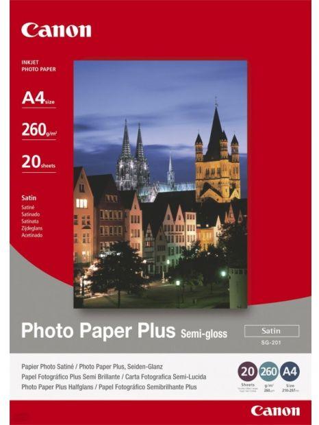 Papier CANON SG-201 Photo Paper Plus Semi-Gloss 20ark. (A4) (1686B021)