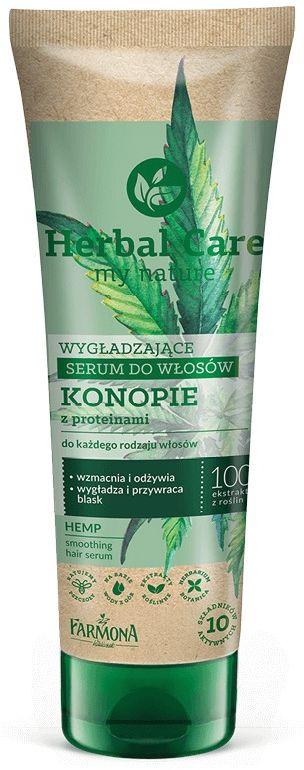HERBAL CARE Wygładzające serum do włosów KONOPIE z proteinami 100ml