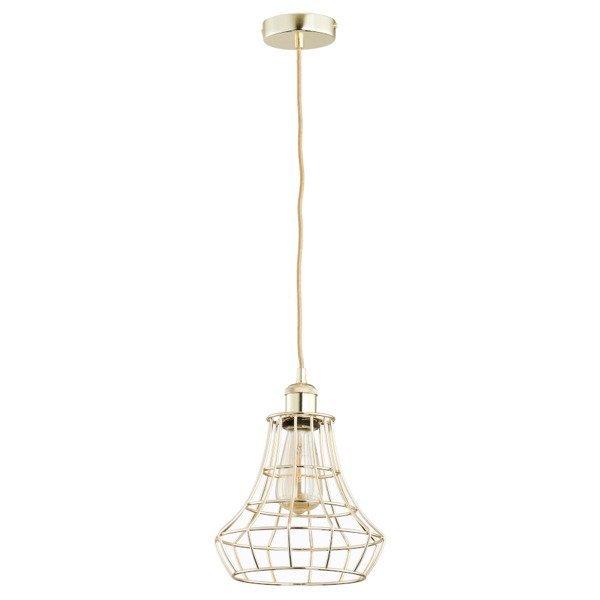 Druciana lampa kratka SOLIX złota śr. 22,5cm - złoty