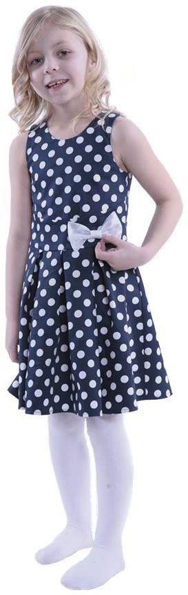 Sukienka FSU742 GRANATOWY EKRI