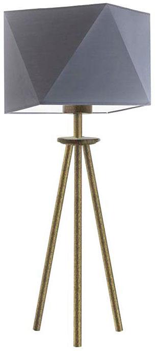 Lampa stołowa trójnóg na złotym stelażu - EX931-Soveti - 18 kolorów