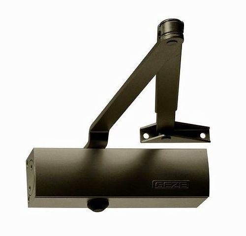 Samozamykacz hydrauliczny GEZE TS 1500 z ramieniem srebrny lub brąz