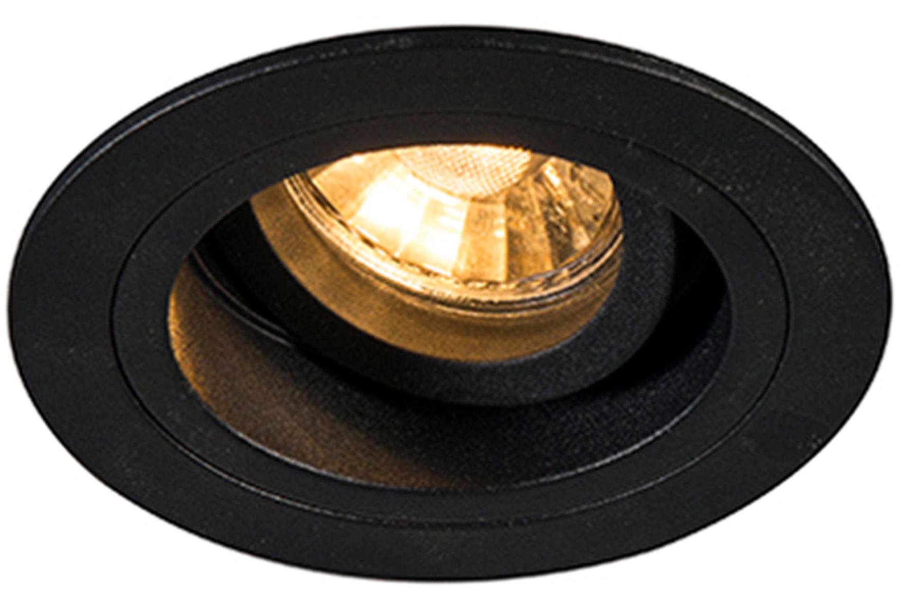 Zuma Line 92700 CHUCK DL ROUND oprawa oświetleniowa wpuszczana podtynkowa czarna GU10 9,2cm