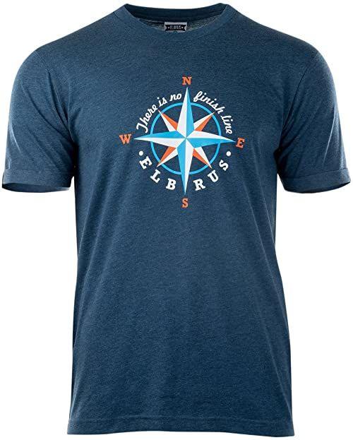 Elbrus Surgen t-shirt męski niebieski Blue Opal Melange S