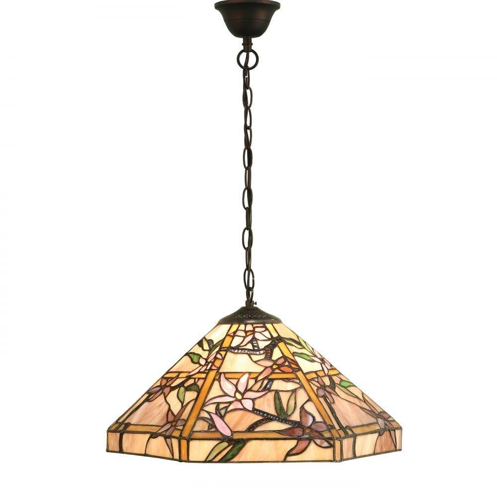 Lampa wisząca TIFFANY CLEMATIS - 64020 - INTERIORS 1900  Skorzystaj z kuponu -10% -KOD: OKAZJA