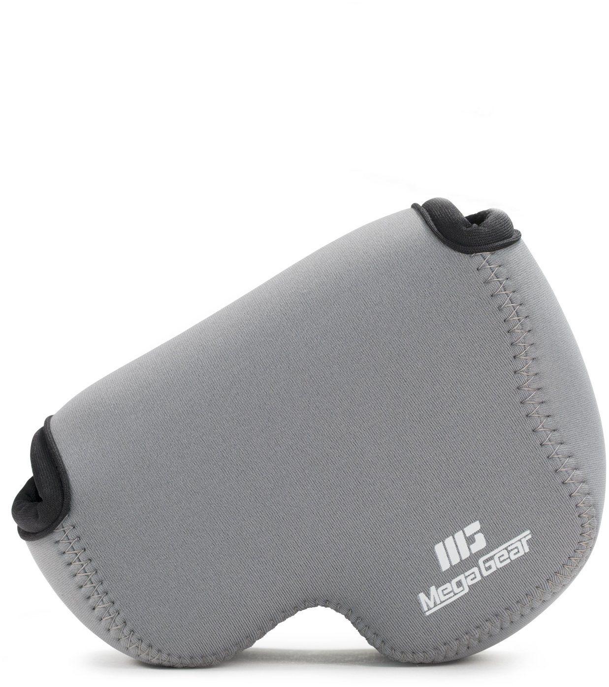 MegaGear ''Ultra Light'' neoprenowa torba na aparat z karabińczykiem do aparatu cyfrowego Nikon COOLPIX B500 (szary)