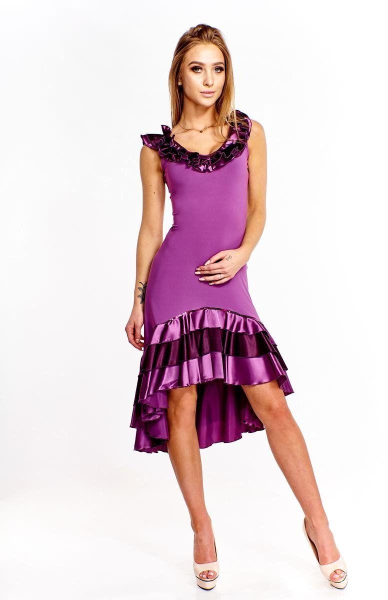 Sukienka FSU102 ŚLIWKOWY JASNY
