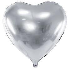 Balon foliowy duże Srebrne Serce