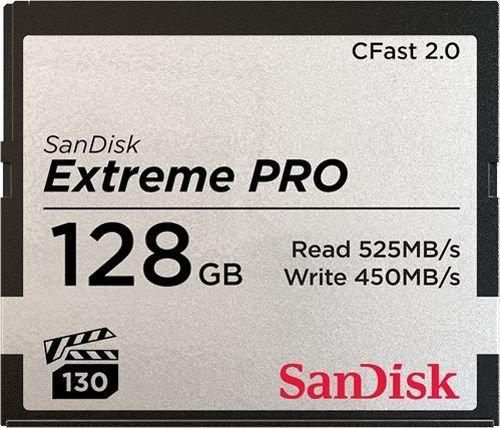 Karta pamięci CFast 2.0 - 128 GB 525MB/s SanDisk Extreme PRO