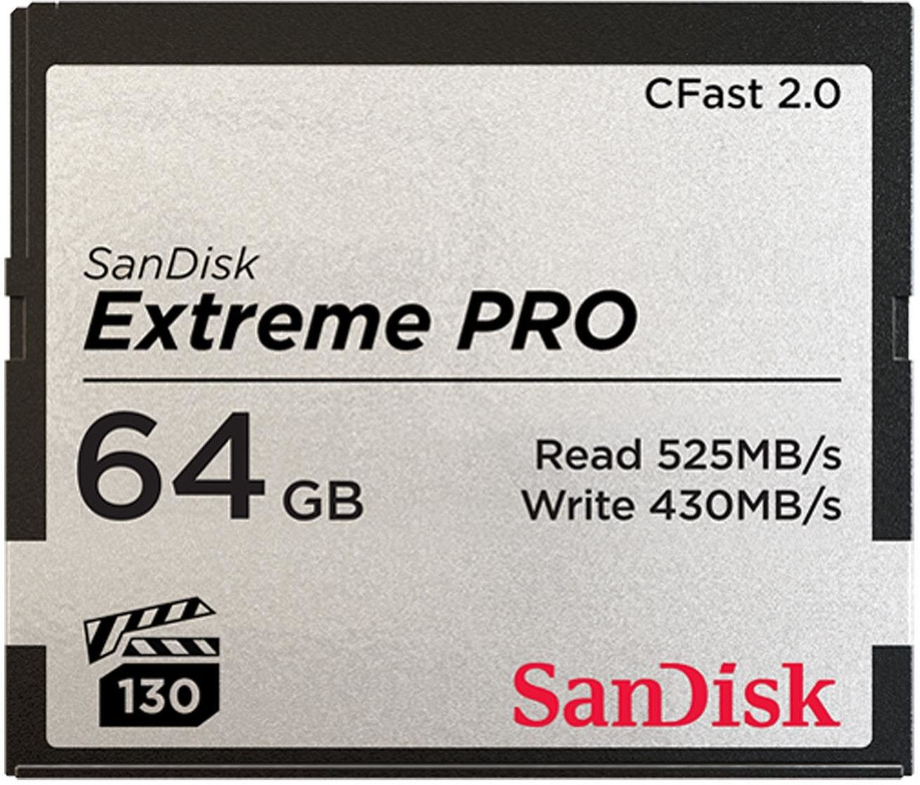 Karta pamięci CFast 2.0 - 64 GB 525MB/s SanDisk Extreme PRO (1)