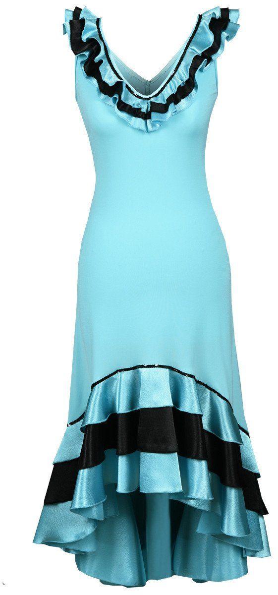 Sukienka FSU102 TURKUSOWY