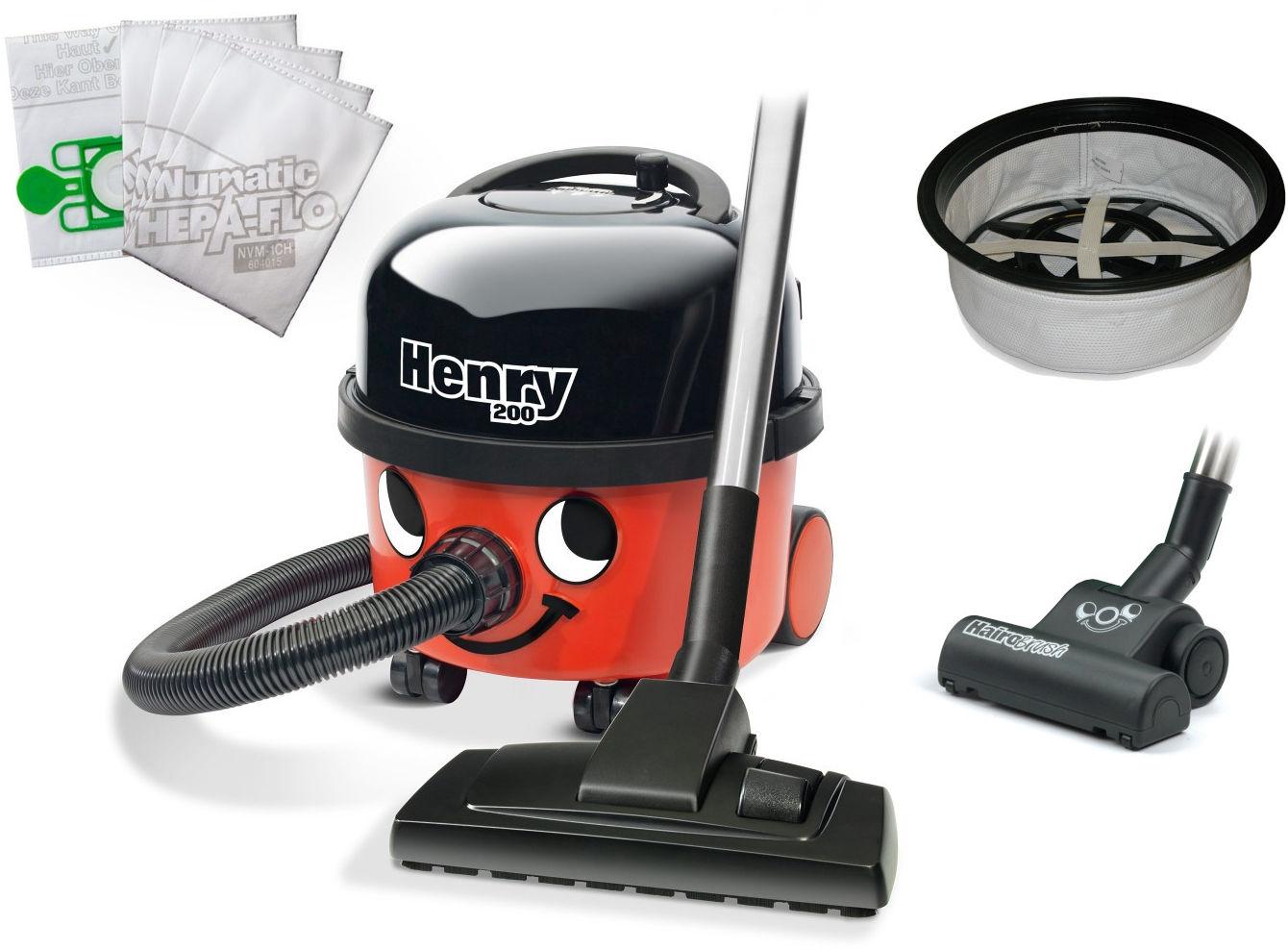 Odkurzacz Numatic HVR200 Henry + filtr pochłaniający zapachy MicroFresh + turboszczotka HairoBrush 19 cm