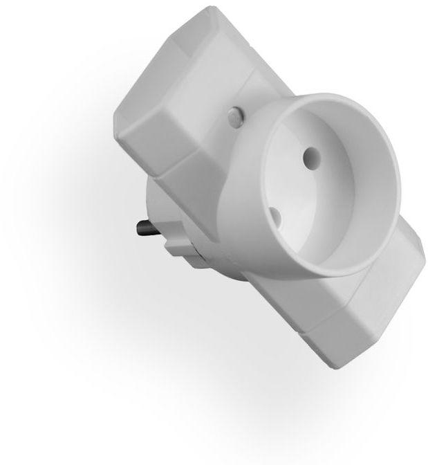 Rozgałęźnik wtyczkowy 1-gniazdo b/u + 2-gniazda b/u EURO R-12