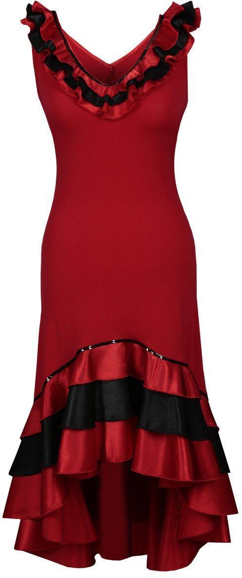 Sukienki Sukienka Suknie FSU102 CZERWONY