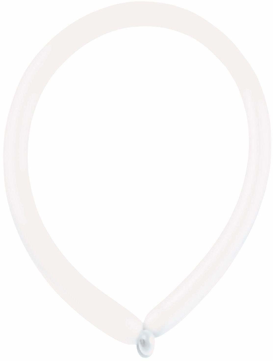 amscan Crystal E160 9905523 100 lateksowe balony do modelowania, przezroczyste