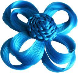 Love Hair Extensions kwiaty na zacisku krokodylkowym kolor turkusowy, 1 opakowanie (1 x 1 sztuka)
