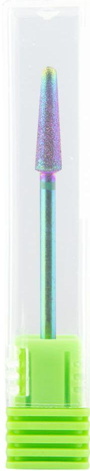 Frez diamentowy UNICORN nr7 tęczowy stożek zielony