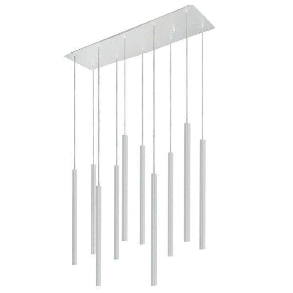 Lampa nad wyspę stół LASER WHITE X biała