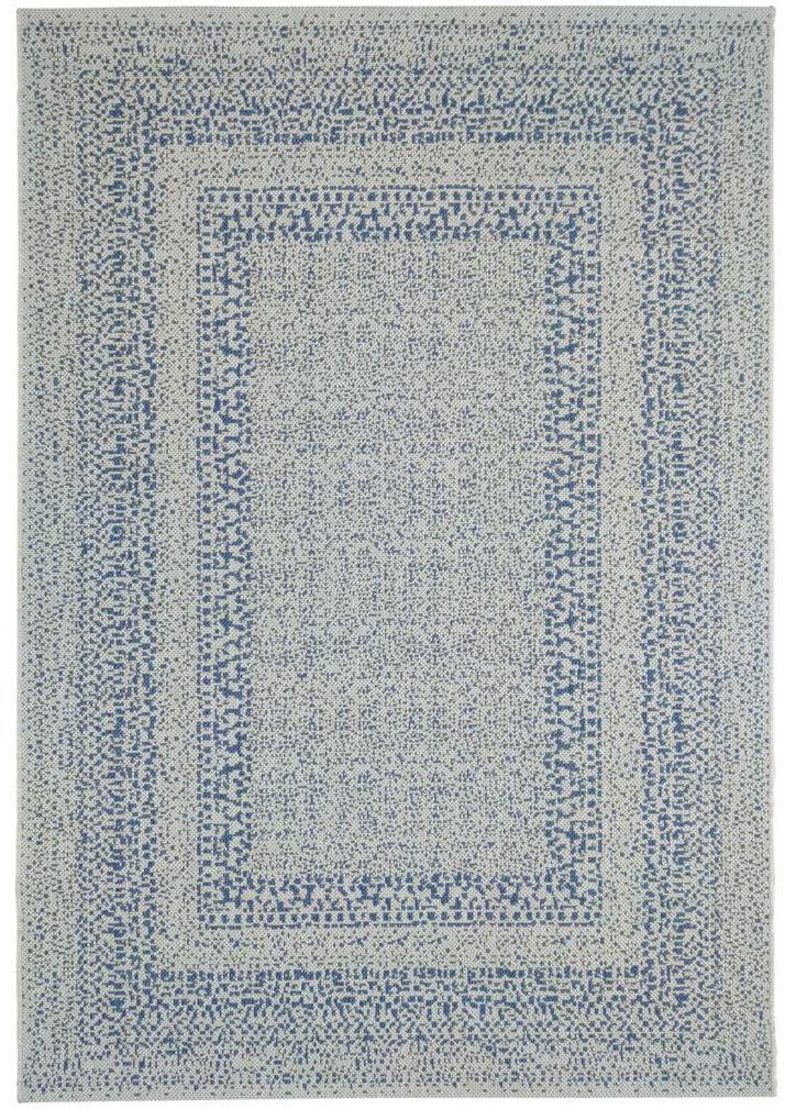 Dywan zewnętrzny Ethnic niebiesko-szary 160 x 230 cm