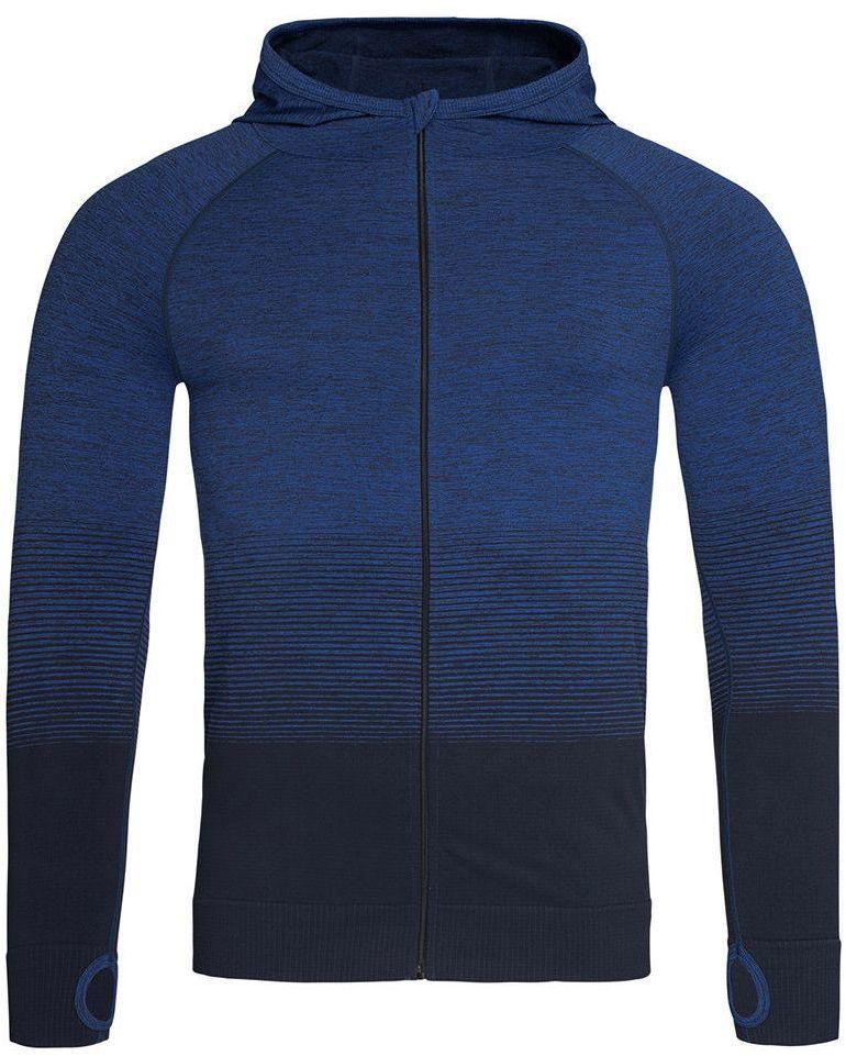 Bluza Sportowy z Kapturem, Nylonowa, Granatowa, Raglanowe Rękawy, Gradient SWJNPLST8820blue